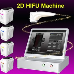 Wholesale Microcurrent Face Machines - 2017 newst hifu skin lifting body tightening machine microcurrent facial lifting machine portable face lifting device 4 cartridges