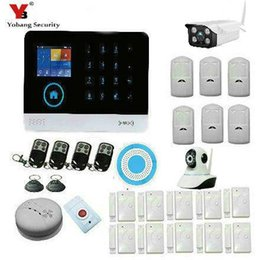 Wholesale Wireless Gsm Home Alarm Systems - Wholesale- YobangSecurity Wireless Wifi GSM SMS ANDROID IOS APP Home Burglar Security Alarm System Wireless Siren Outdoor Wifi IP Camera