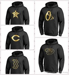 Houston Astros Arizona Diamondbacks Baltimore Orioles Boston Red Sox Cincinnati Reds Gold Collection Sudadera con capucha Negro desde fabricantes