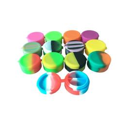 Tarros de silicona de 7 ml online-Envase colorido de la cera del tarro del silicón de la forma redonda de la capacidad dos, envase antiadherente del concentrador de Dab Bho del silicón 7ml