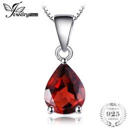 JewelryPalace классический 2.2 ct натуральный камень манящий красный гранат 925 стерлингового серебра подвески для женщин мода без цепи S18101308 cheap sterling silver garnet от Поставщики стерлинговый серебристый гранат