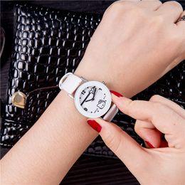 ec9e9a6a42c ... À Prova D  Água Relógios de Quartzo Relógios De Pulso De Couro para  Meninas Meninos Crianças Menina Relógio de Venda Quente gatinho superior  ofertas