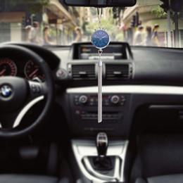 Parfüm nachfüllungen online-Auto Uhr Dekoration mit Parfüm Lufterfrischer Nachfüllung Lagerung Auto Rückspiegel Ornament Hängen Anhänger Innen Zubehör