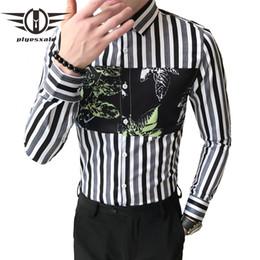 hot sale online efc38 49661 Sconto Camicia A Righe Bianche Nere Sottili | 2019 Camicia A ...