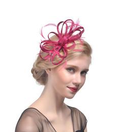 Gelin Şapka Tüyler Keten Çiçekler Saç Aksesuarları Boncuk Kızlar Parti Saç Dekorasyon chapeau mariage femme nereden