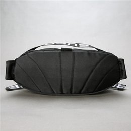Wholesale Microfiber Logo - S letter 18SS 44th Waist Bag Shoulder Bag Full LOGO Waist backpack Shoulder Bag Messenger Chest Black