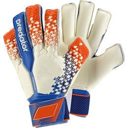 Wholesale plain football tops - 1 Pair 2018 New Top of The Top of The Whole Latex Goalkeeper Gloves Football Gloves Soccer Gloves with Finger Protection