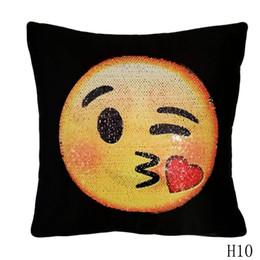 Lustige kissenbezüge online-Funny Fashion Expression heiße verkaufende weiche 45x45cm Baumwollleinenkissenbezug Haustextilien für Dekokissenhülle