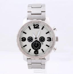 Wholesale ar free - Foss Big Dial Watch Sport Men Women Fashion Watch Clock TOP Quartz Movement Steel Strap Wristwatch AR Free Shipping