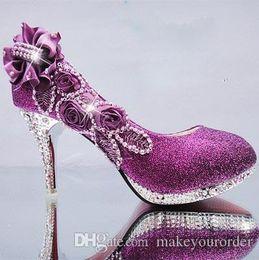 Wholesale medium documentary - FREE SHIPPING The bride shoes high documentary round head thin shallow wedding bridesmaid Women's wedding shoe 234