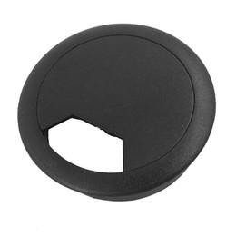 trou de fil Promotion 2 Pcs 50mm Diamètre Bureau Fil Cordon Câble Oeillets Couvercle de Trou Noir