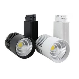 wholesale shoe shops Coupons - LED COB Track Light 20W Dimmable Rail Lights Spotlight Clothing Shoe Shop Black White Body LED Spotlight 20W COB LED Rail Track Ceiling