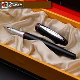 907 Preto suave e Rollerball Pen vermelho com prata clipe de alta qualidade do metal canetas esferográficas com caso original do presente Pen Set de