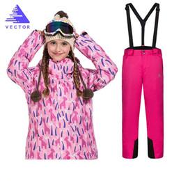 eb7b3eced 2019 calça impermeável para roupa Meninas Terno De Esqui À Prova D  Água  Calças +