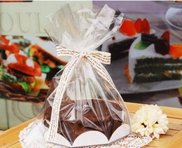 """Wholesale Bags For Recycling - 24 Pcs 6"""" Chiffon Cake Bag With Board,For Bakery Gift Packing   Cookie Packaging"""