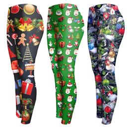 Wholesale plus size winter print leggings - HOT Women Autumn Winter Skinny Leggings Fashion Christmas Print Casual Slim Elastic Leggings Sexy Hip Push Up Pants Plus Size