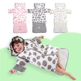 Wholesale Sleep Blankets For Infants - Wholesale- Warm baby sleeping bag detachable Cartoon infant kids warm sleepsack envelopes for newborns winter blanket wrap bedding D3