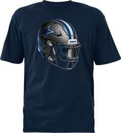 T-shirt di cowboy online-Cowboys de Dallas Merchandising Youth Stealth Casco Navy T-Shirt, grande 2018 personalizzato stampato tshirt hip hop divertente tee mens magliette