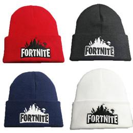 Sombreros de punto online-Juego Fortnite tejer gorras adolescente bordado tejer gorra 2018 invierno cálido sombrero envío libre de DHL 29 colores C4858