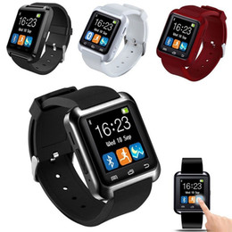 Wholesale iphone 4s phone white - 2018 Bluetooth Smartwatch U8 U Watch Smart Watch Wrist Watches for iPhone 4 4S 5 5S Samsung s7 HTC Android Phone Smartphone