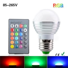 Discount led lighting wireless control - Rgb Light Bulb Colourful Bulbs Lamp Led Energy Saving Light Snails Remote Control Dimmable Wireless Change Color Lights 8 5xj gg