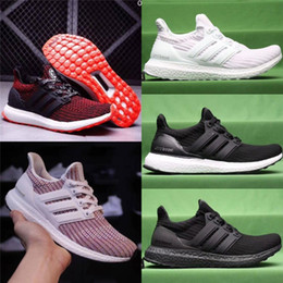 Wholesale core quality - Best quality ultra boosts 4.0 Core Primeknit Runner ultraboost Running Shoes Sports Sneakers mens shoes
