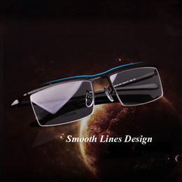 4b0ed1ef6e New Arrival Men Titanium Alloy Half Rim Eyeglasses Frames for Men Eyewear  Flexible Temples Legs IP Electroplating Alloy Material