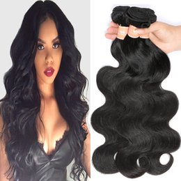 Wholesale Cheap Brazilian Remy Hair Extensions - Mink Brazilian Body Wave Hair Weaves Wavy Remy Human Hair Bundles of 4 Cheap Peerless Virgin Hair Extensions Unprocessed Natural Black Color