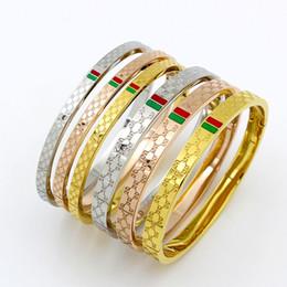 Deutschland 316L Titan Stahl hohe Qualität Liebhaber Armband 18K vergoldet rot grün Liebe Mode Armband für Frauen drei Tropfen Breite 4mm6mm7mm Versorgung