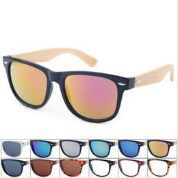 Wholesale Bamboo Wooden Shades - Retro Wood Sunglasses Men Bamboo Sunglass Women Sports Goggles Mirror Sun Glasses Shades Wooden Travel Goggles OOA4317