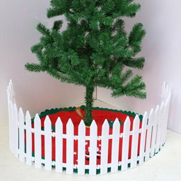 Wholesale White Plastic Fencing - Free Shipping 5pcs Pointed Plastic Fence Garden White Decorated Garden Flowerbed Kindergarten Christmas Fence Small