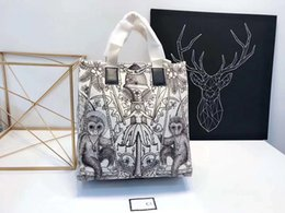 Wholesale Ribbon Embroidery Fabric - AAAAA 2018 Luxury famous brand designer Handbags handbag shopping Shoulder Bag Museum Graffiti Bags Purse lady women wallet 180514005
