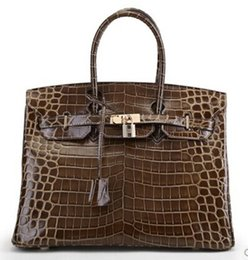 Wholesale christmas france - crocodile handbag brand new bags shoulder tote emboss ostrich wholesale women tote purse Italy UK France genuine leather bag Paris US EUR