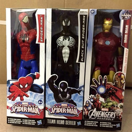 Wholesale heroes marvel comics - Comic Ornament PVC Action Marvel Titan Heroes Series Garage Kit Artificial Figure Toys Sturdy And Wrestling Gift For Kid 20zr W