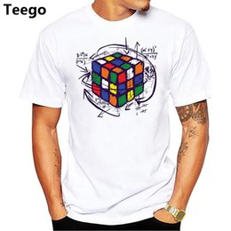 5eb24aa1 2018 New Fashion Math Work Design Men T-shirt Short Sleeve Hipster Tops  cube Printed t shirts Cool tee