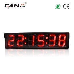 Levou relógio digital contagem regressiva on-line-[Ganxin] À Prova D 'Água 6' 'Led Digital Race Timer relógio de parede dupla face com função de Contagem Regressiva relógios de parede de futebol