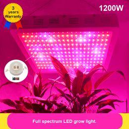 1200W LED Grow Light Full Spectrum 380-840nm Rojo / Azul / Blanco / Naranja / UV / IR Epileds 48mil chips dobles Planta Grow Luces de luz Lámpara para indoo desde fabricantes