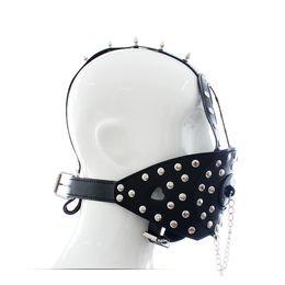 Wholesale Muzzle Head Harness - 2018 BDSM Sex Toys Black Leather Head Harness With Muzzle Leather Muzzle Bondage Restraint Gear Adult Sex Product A168