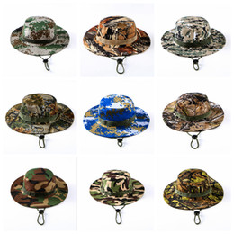 Wholesale Wholesale Sun Hats - Tactical Bucket Beanie Hats Airsoft Sniper Camouflage Nepalese Cap Military Army American Military Accessories Hiking Hats OOA4878