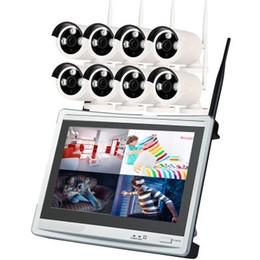 8CH 720 P Gece Görüş Kızılötesi LCD Kablosuz Wi-Fi IP Güvenlik Kamera Sistemi NVR Kiti nereden