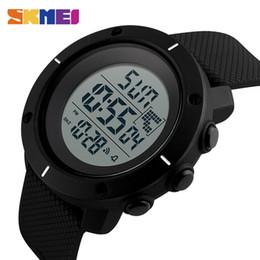 SKMEI Fashion Big Dial Men Watch 50m Orologio sveglia impermeabile da polso Sport Digital Display a LED Relogio Masculino da