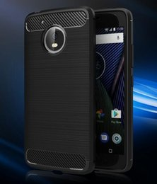 Wholesale Wired Cover - 2018 new MOTO G5 mobile phone shell Motorola E5 play protective cover Carbon fiber TPU wire drawing shell