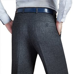 Wholesale Woolen Suits For Men - Mu Yuan Yang New Arrivals Men's Suit Pants Autumn and Winter Casual Mens Long Trousers Thicken Woolen Pants For Male Clothing