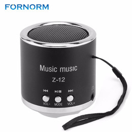 2018 base de pc FORNORM Z12 Mini Altavoces Digitales Portátil Recargable de Audio FM Soporte Tarjeta SD para PC Música Reproductor de MP3 USB Micro Radio rebajas base de pc