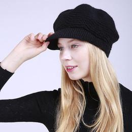 3488b4c9993 2019 damen stricken hut kremse Dame Winter Caps Acryl Beanies mit Krempe  Hüte Sport gestrickte warme