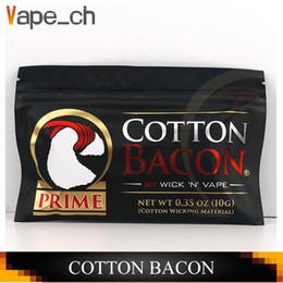 protetor de anel de vapor Desconto Original ALGODÃO BACON 2.0 Pure Botton pavio 2.0 Para DIY RDA RBA Atomizadores E Cigarro Vapersacon C