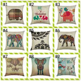 спальни наборы Скидка Оптовая 25 стили мультфильм слон 45 * 45 см подушка бытовые белье подушки крышки спальня набор рождественские подарки Home Decor Party украшения