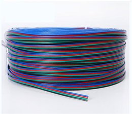 Wholesale Pin Meter - 164FT 50M 50 Meters RGB 4-Pin Extension Connector Cable Cord For 3528 5050 RGB LED Strip Indoor Lighting Extension Cord Lighting Accessories