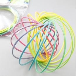 Wholesale Science Children - Flow toys Magic bracelet Toroflux flow ring children plastic decompression exercise artifact tricks hoop toy Children's gifts magic novelty