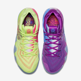 Wholesale Best Brands Basketball Shoes - BEST BRAND KYRIE IRVING 4 CONFETTI MULTICOLOR MEN BASKETBALL SHOES RUNNING SHOES FOR SALE NEW IRVING 4S OUTDOORS SPORTS SNEAKERS WITH BOX